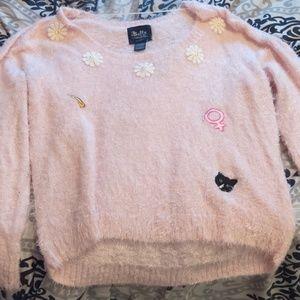 Buffy the vampire Slayer fuzzy pink sweater